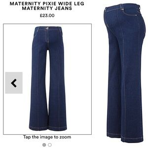 LF❗️High Waisted, Wide Leg Maternity Jeans