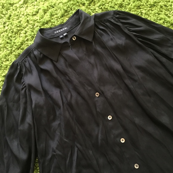 Theory Theory Silk Black Button Down Shirt From Love 39 S