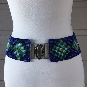 Vintage Accessories - Vintage handmade stretchy beaded belt