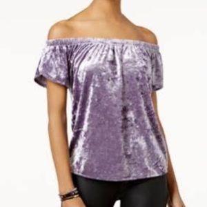 Hippie Rose Tops - Lavender Valora off shoulder shirt