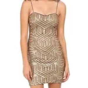 Aidan Mattox Dresses & Skirts - HP🎉 AIDAN MATTOX GOLD BRONZE DRESS SIZE 0