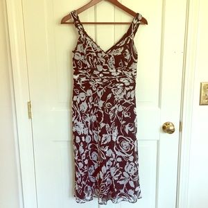 Ann Taylor black and white floral dress