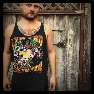 Authentic Original Vintage Style Other - Vintage trashed Leonard Skynyrd tank