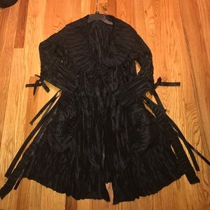 Jackets & Blazers - NEW Crepe Ribbon Fashion Coat