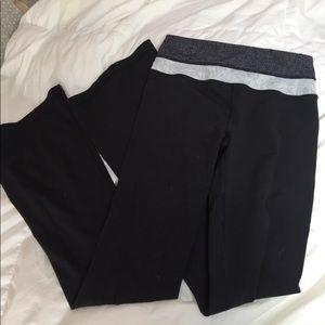 Black lululemon flare pants