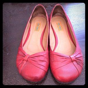 Miz Mooz Shoes - Super Cute Red leather Miz Mooz flats