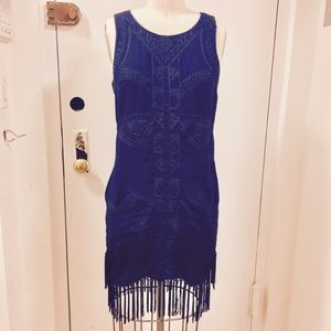 Staring at Stars Dresses & Skirts - Embroidered Fringe Dress - Urban Outfitters