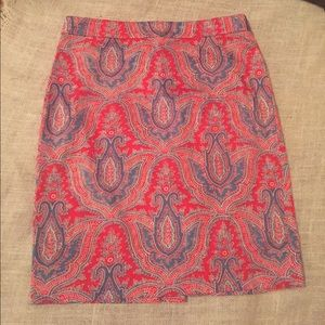 J. Crew Dresses & Skirts - J Crew paisley pencil skirt Size 8 like new