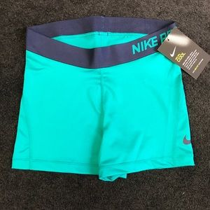 "Dark Teal Nike Pro 3"" Compression Shorts"