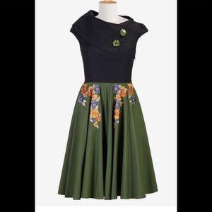 eshakti Dresses & Skirts - New Eshakti Retro Floral Fit & Flare Dress S 6