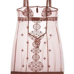 La Perla Other - La Perla burgundy sheer lace slip / chemise