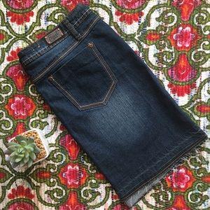 Earl Jeans Dresses & Skirts - Raw Hem Jean Skirt