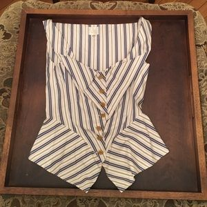 Vivienne Westwood Tops - Vivienne Westwood striped cotton bustier top