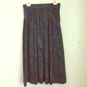 VTG psychedelic paisley print skirt