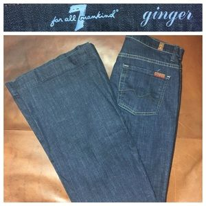 "7 for all mankind Size 27 Dark Blue ""Ginger"" Jeans"
