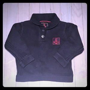 Jacadi Other - Jacadi navy cotton 2 button shawl collar sweater