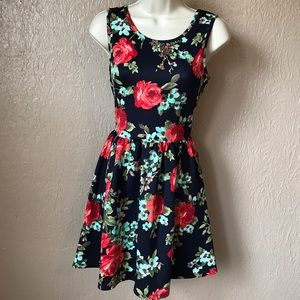 Crystal Doll Dresses & Skirts - NWT Crystal Doll Beautiful Navy Floral Dress