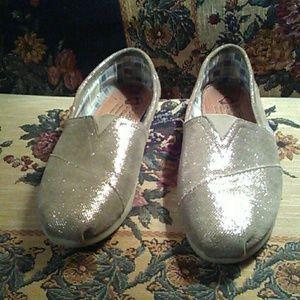 bobs Shoes - Bobs sz 9.5 silver grey slip ons COMFORTABLE