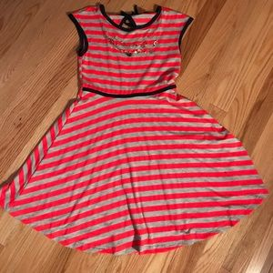 Zunie Other - Pink and gray striped dress