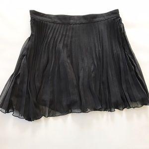 Asos accordion black mini skirt