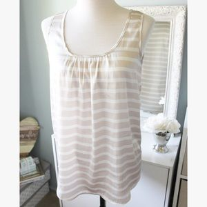 Striped Tan Summer Top