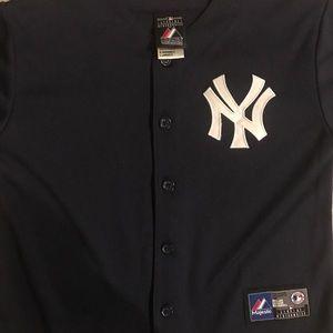 Majestic Other - Derek Jeter Yankees Baseball Jersey, Size 7