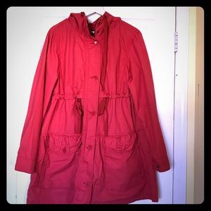 Gap Trench coat, size M, red