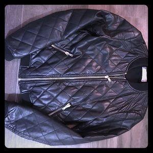 Zara Leather Bomber Jacket