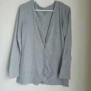 Old Navy Sweaters - Light Grey Heathered Cardigan