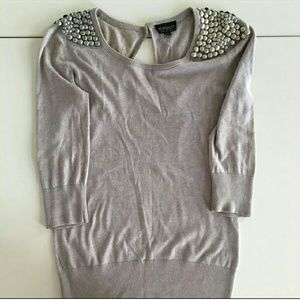 Topshop Sweaters - Topshop gray/lavender sweater