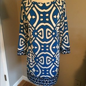 Laundry by Design Dresses & Skirts - Laundry by Design Shift Dress, size 8 blue/ white