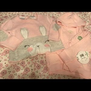 Burt's Bees Baby Other - Adorable pink sweater and pink zip up hoody!! 💕💕