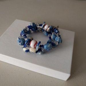 Hallmark cards beaded bracelet baseball theme