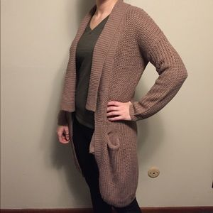 Wet Seal Sweaters - Wet Seal size small tan chunky duster