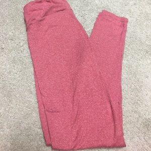 LuLaRoe Pants - Red/Pink OS