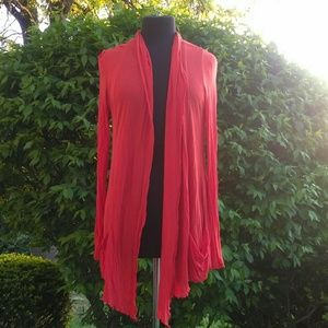 Ambiance Apparel Sweaters - Hot burnt orange cardigan