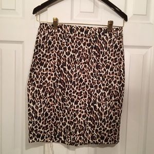 J.Crew leopard print pencil skirt 4