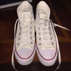 Converse Shoes - White high top converse