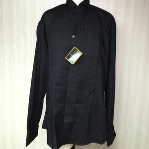 Stacy Adams Other - Black tuxedo shirt with French cuffs. NEW