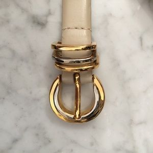 Accessories - Vintage Cream Leather Belt