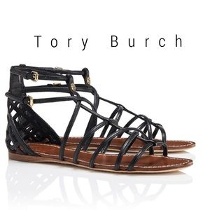 Tory Burch Shoes - Tory Burch Brooke leather strappy flat sandal