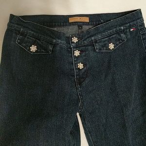 Diamond button Jeans by Tommy