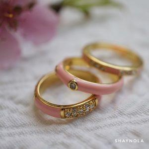 nOir Jewelry Jewelry - nOir Enamel Stack Rings