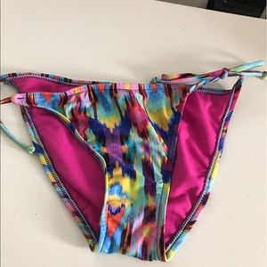 Other - Multi colored side tie bathing suit bottom