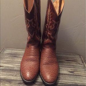Tony Lama Other - Tony Lama Men's Elephant Grain Cowboy Boots