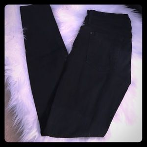 7 For All Mankind Pants - 7 for All Mankind black skinny jeans