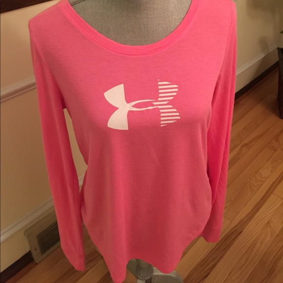 under armour under armour hot pink tee shirt large