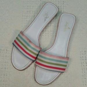 Brooks Brothers Shoes - Brooks Brothers white rainbow sandals size 9.5