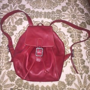 Vintage coach backpack  Rare RED