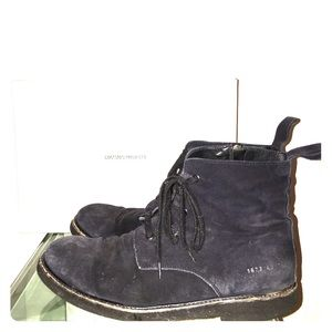 Common Projects Other - Common projects navy suede side zip chelsea boots